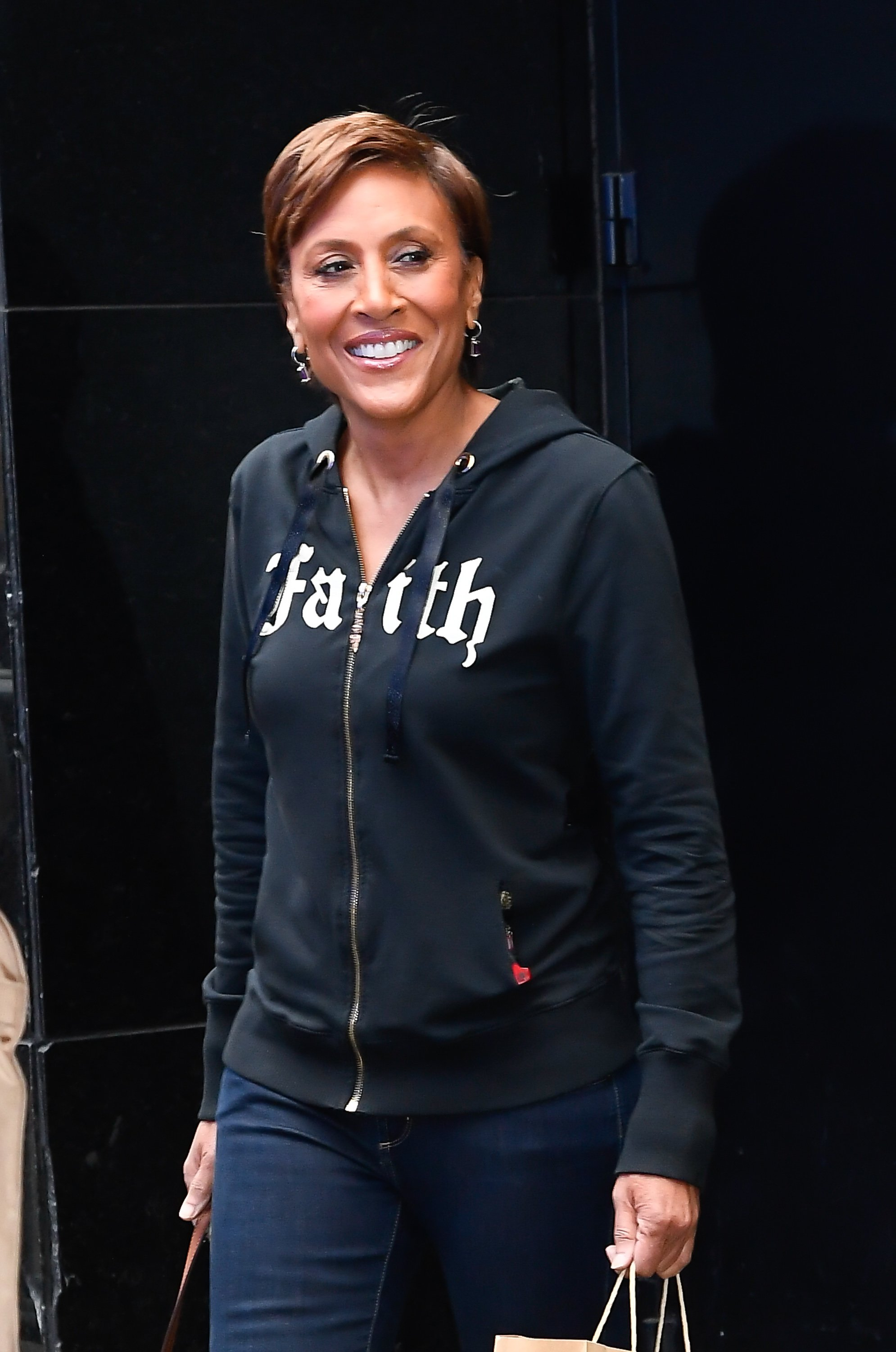 """Robin Roberts outside the """"Good Morning America"""" studios on March 12, 2020 in New York City.   Photo: Getty Images"""