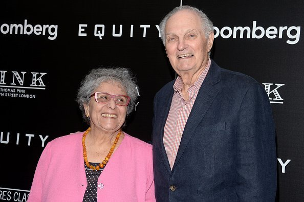 """Arlene Alda and Alan Alda attends a Screening of Sony Pictures Classics' """"Equity"""" hosted by The Cinema Society with Bloomberg & Thomas Pink at TBD on July 26, 2016 in New York City 