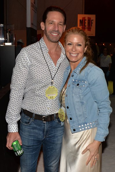 Erik Brooks and Jill Martin at the 19th Food Network South Beach Wine & Food Festival on February 21, 2020 in Miami Beach, Florida.   Photo: Getty Images