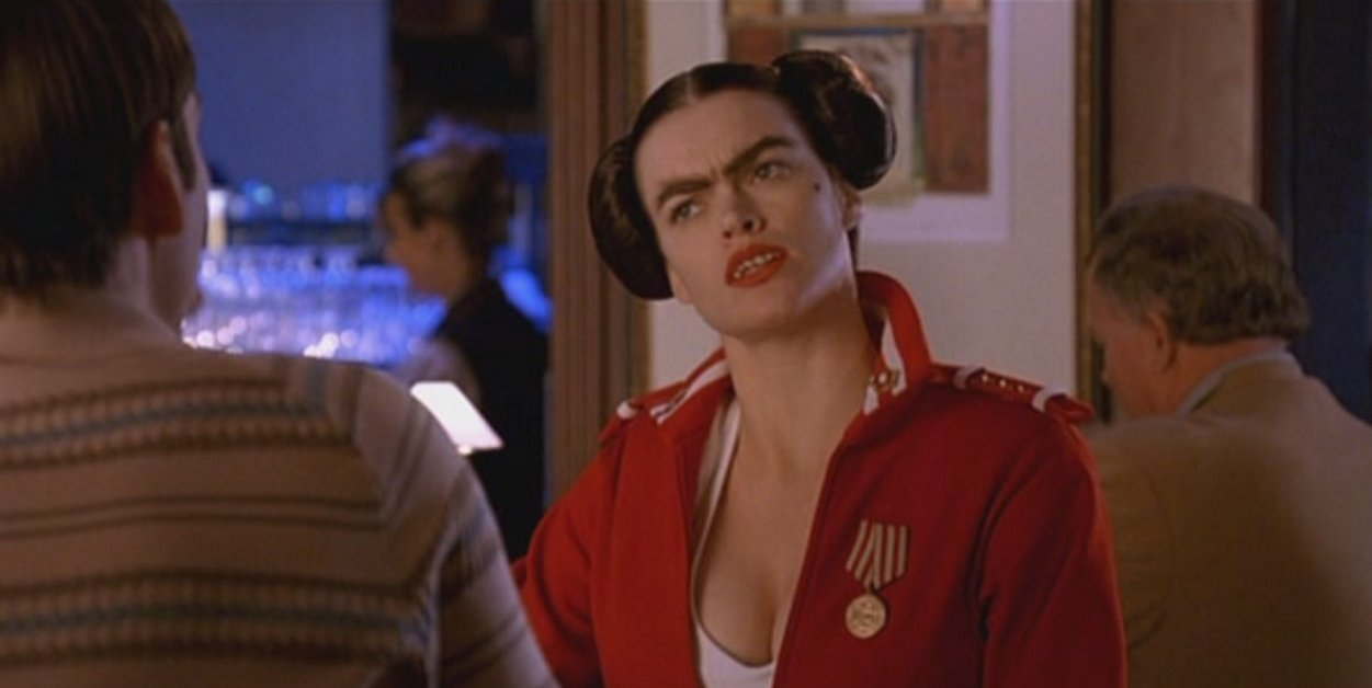 """Missi Pyle in """"Dodgeball."""" Image Source: Red Hour Productions. YouTube/Movieclips"""