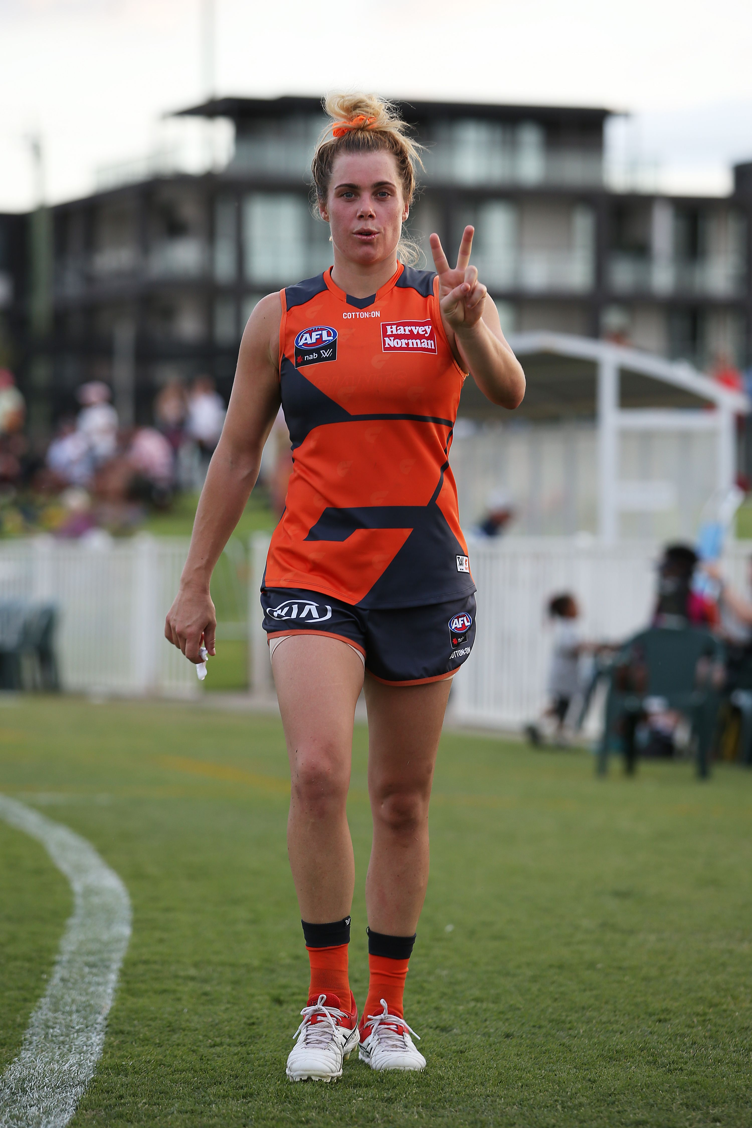 Jacinda Barclay of the GWS Giants at an AFLW matchat Robertson Oval on March 07, 2020, in Wagga Wagga, Australia | Photo:Jack Thomas/Getty Images
