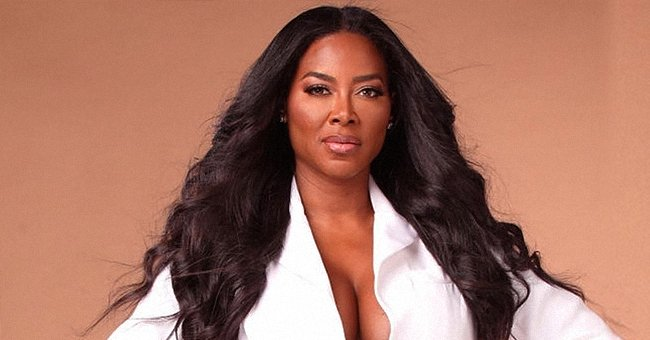 Kenya Moore of 'Real Housewives' Flaunts White Jacket with Deep Neck Line for a Photo Challenge