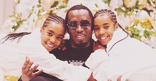 Diddy's Twin Daughters Pose among Tropic Leaves in Matching Neon Yellow Bikinis & Capes (Photo)