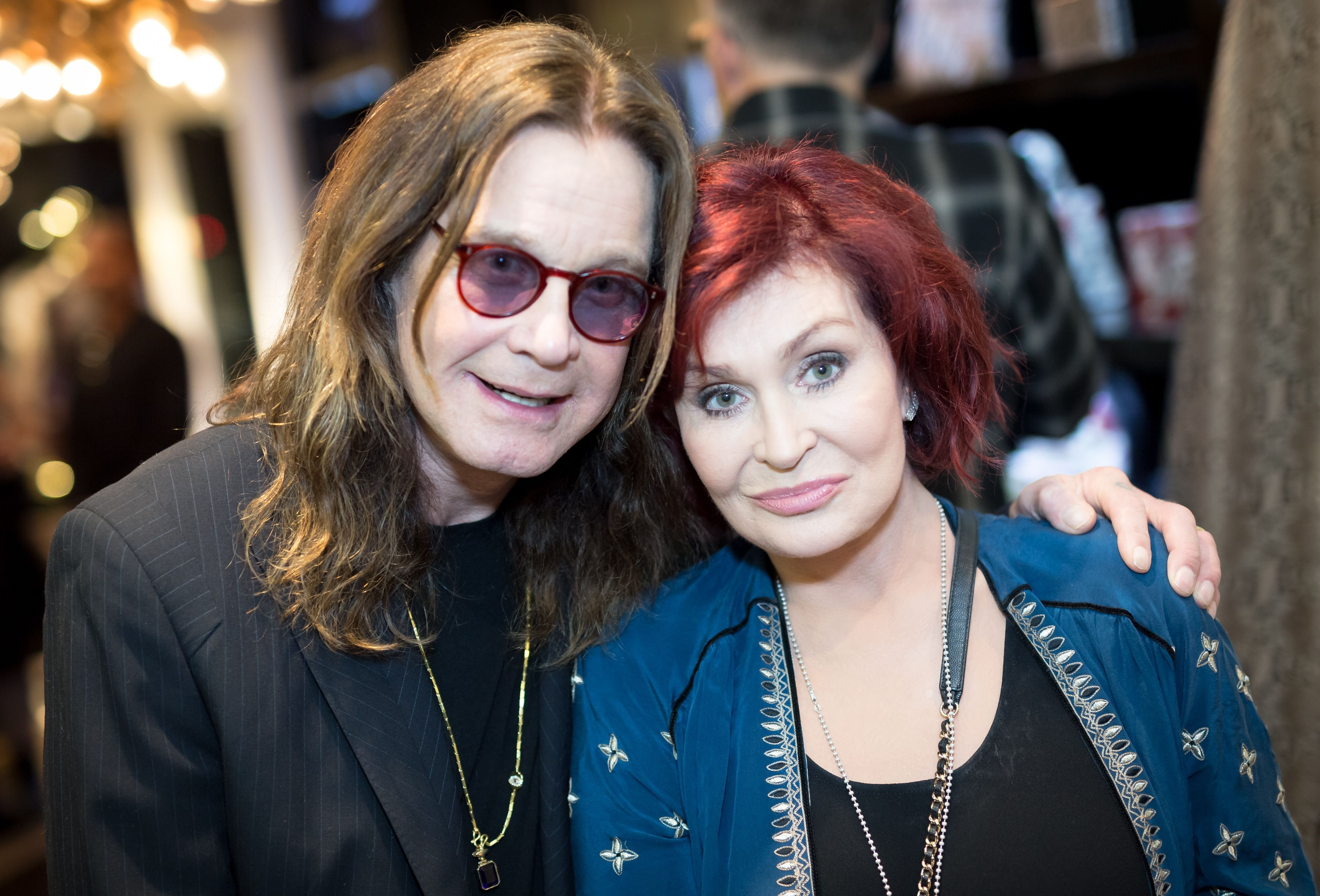 Ozzy Osbourne and Sharon Osbourne at the Billy Morrison - Aude Somnia Solo Exhibition at Elisabeth Weinstock on September 28, 2017 in Los Angeles, California. | Photo: Getty Images