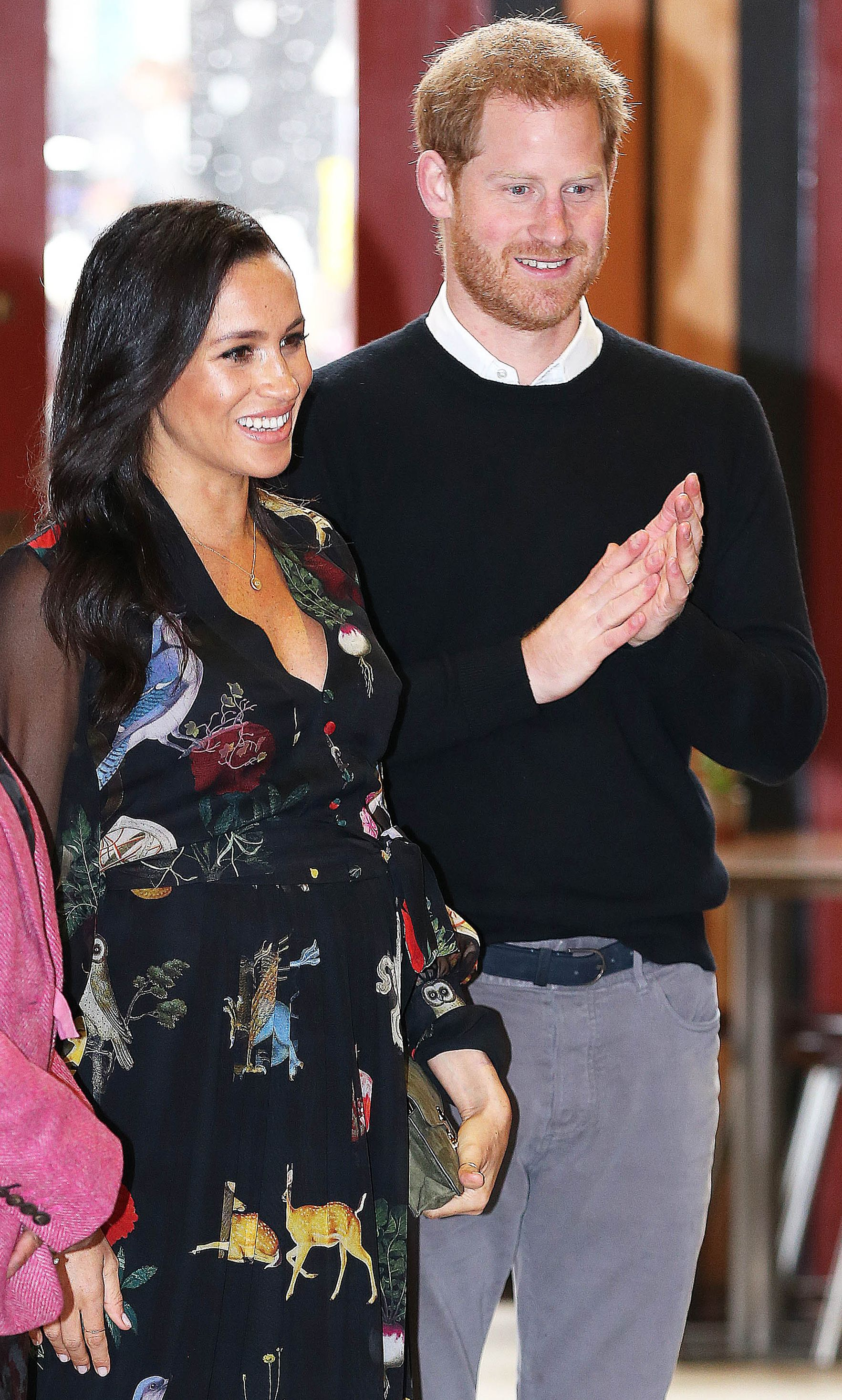 The Sussexes during a visit to the Bristol Old Vic Theatre, February, 2019. | Photo: Getty Images.