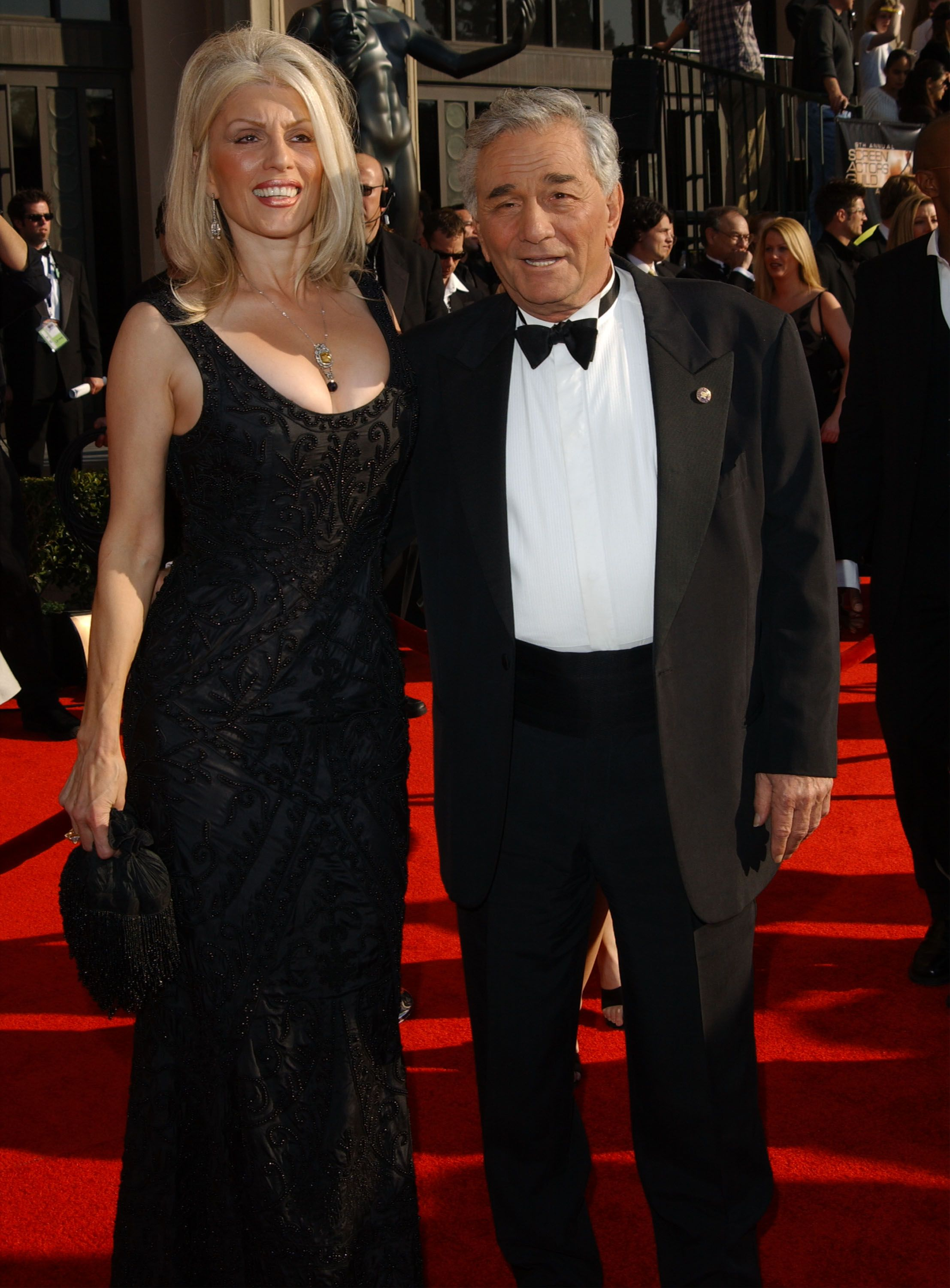 Peter Falk and Shera Danese during the 2003 Screen Actors Guild Awards. | Photo: Getty Images