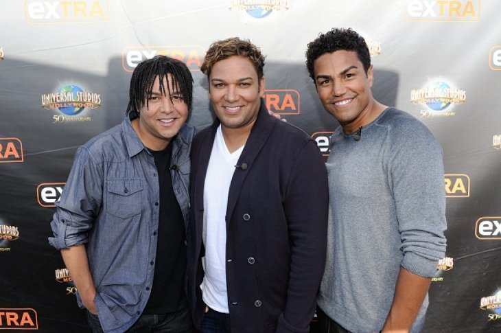 Taj Jackson, Taryll Jackson and TJ Jackson from 3T on October 8, 2015 in Universal City, California | Source: Getty Images