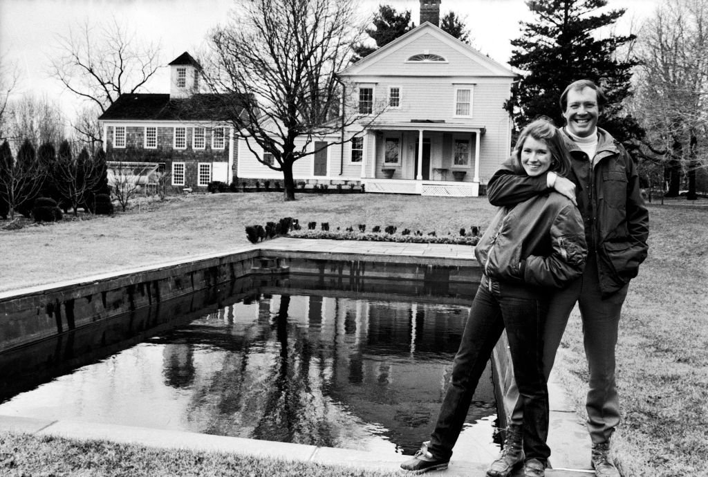 Martha Stewart and husband, publisher Andy Stewart, outside their home | Getty Images