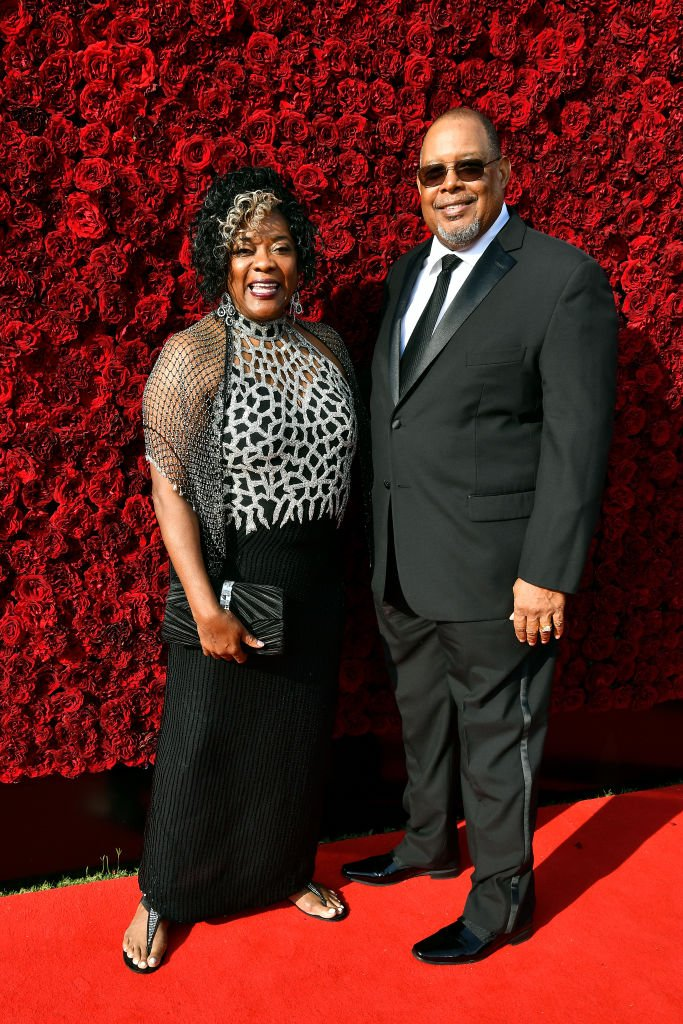 Loretta Devine and Glenn Marshall at the Tyler Perry Studios grand opening gala, October 2019   Source: Getty Images
