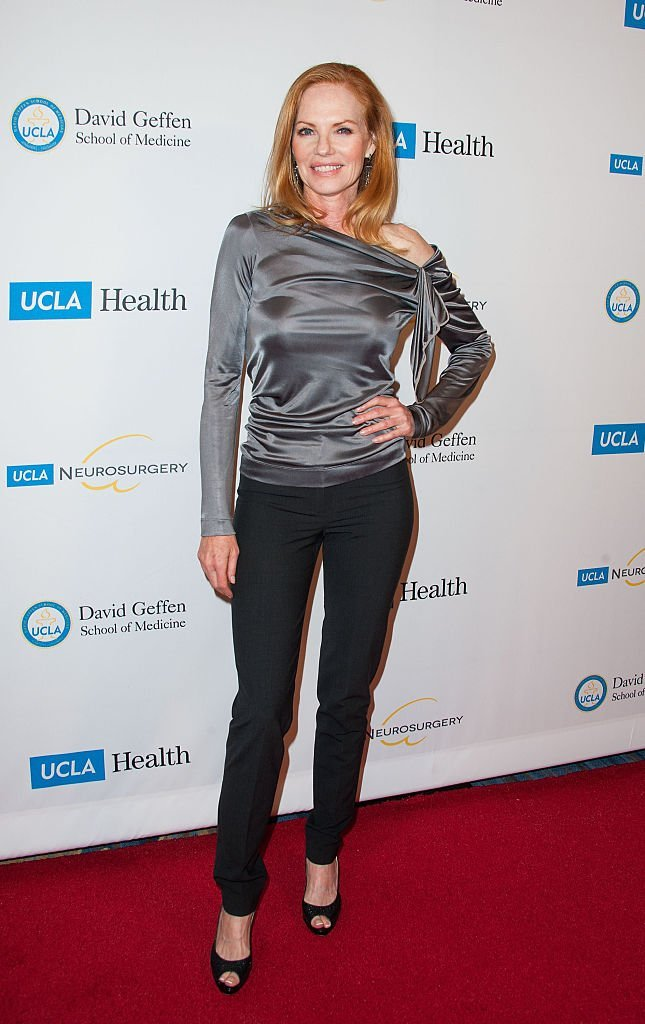 Marg Helgenberger arrives at 2014 UCLA Visionary Ball at the Beverly Wilshire Four Seasons Hotel | Getty Images / Global Images Ukraine