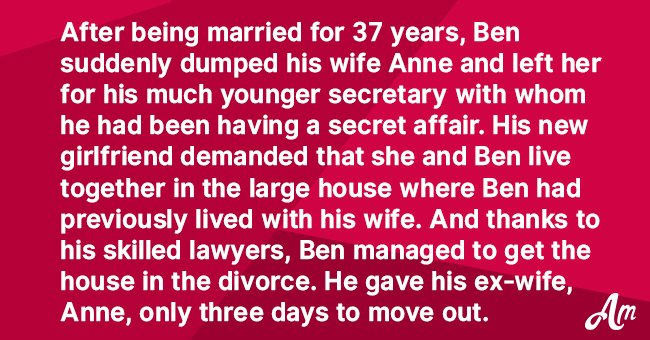 Story: Husband Leaves Wife after an Affair with His Much Younger Secretary