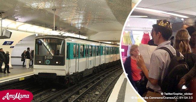 Le 'harceleur à la couronne' continue d'inquiéter les femmes dans le métro avec son air étrange