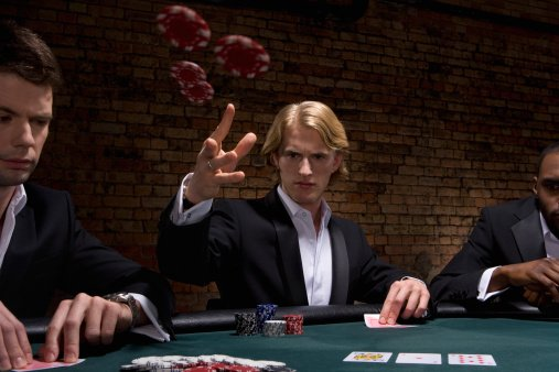 Photo of man throwing poker chips in a casino   Photo: Getty Images