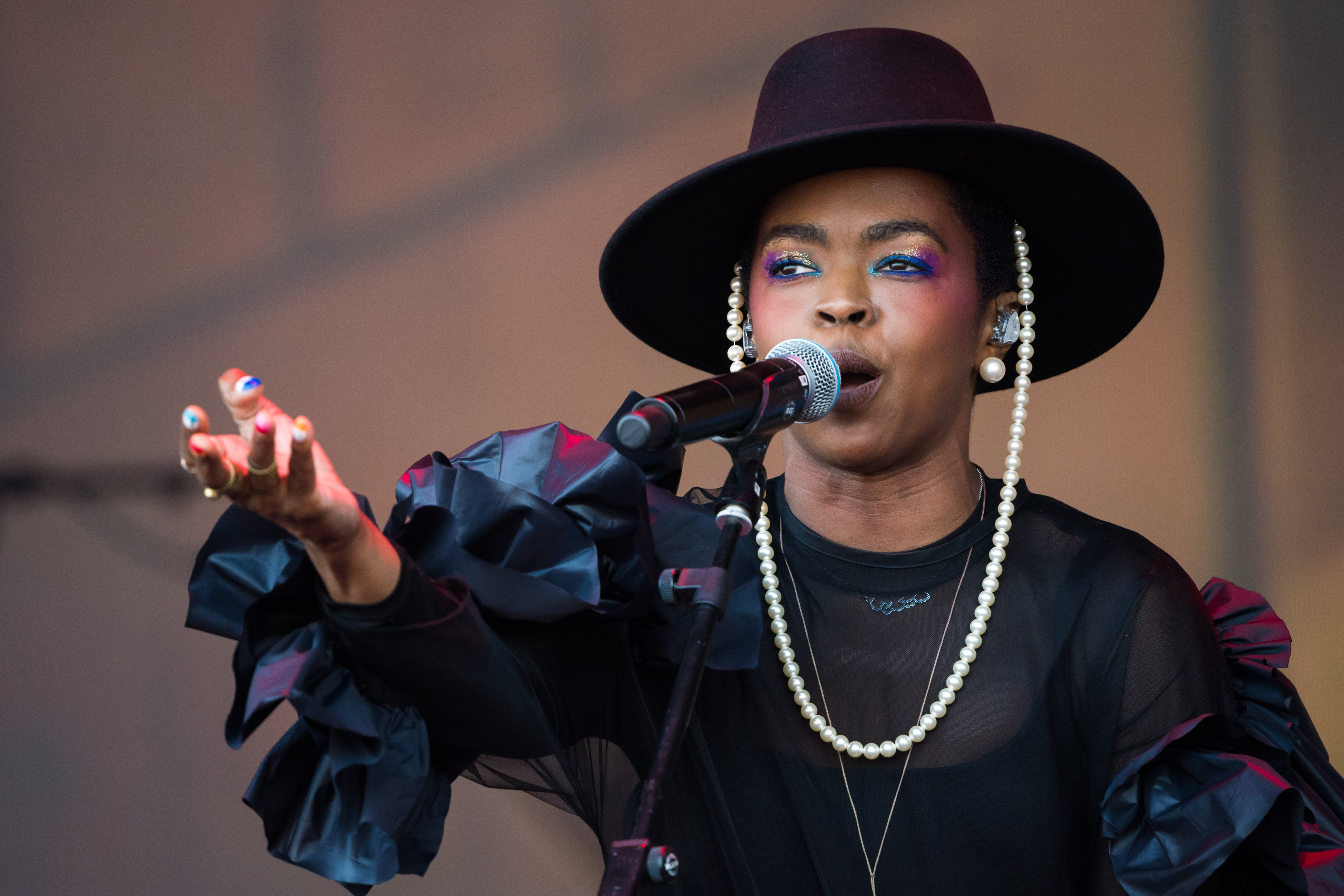 Lauryn Hill performing at the Glastonbury Festival at Worthy Farm, Pilton on June 28, 2019 in Glastonbury, England.| Source: Getty Images