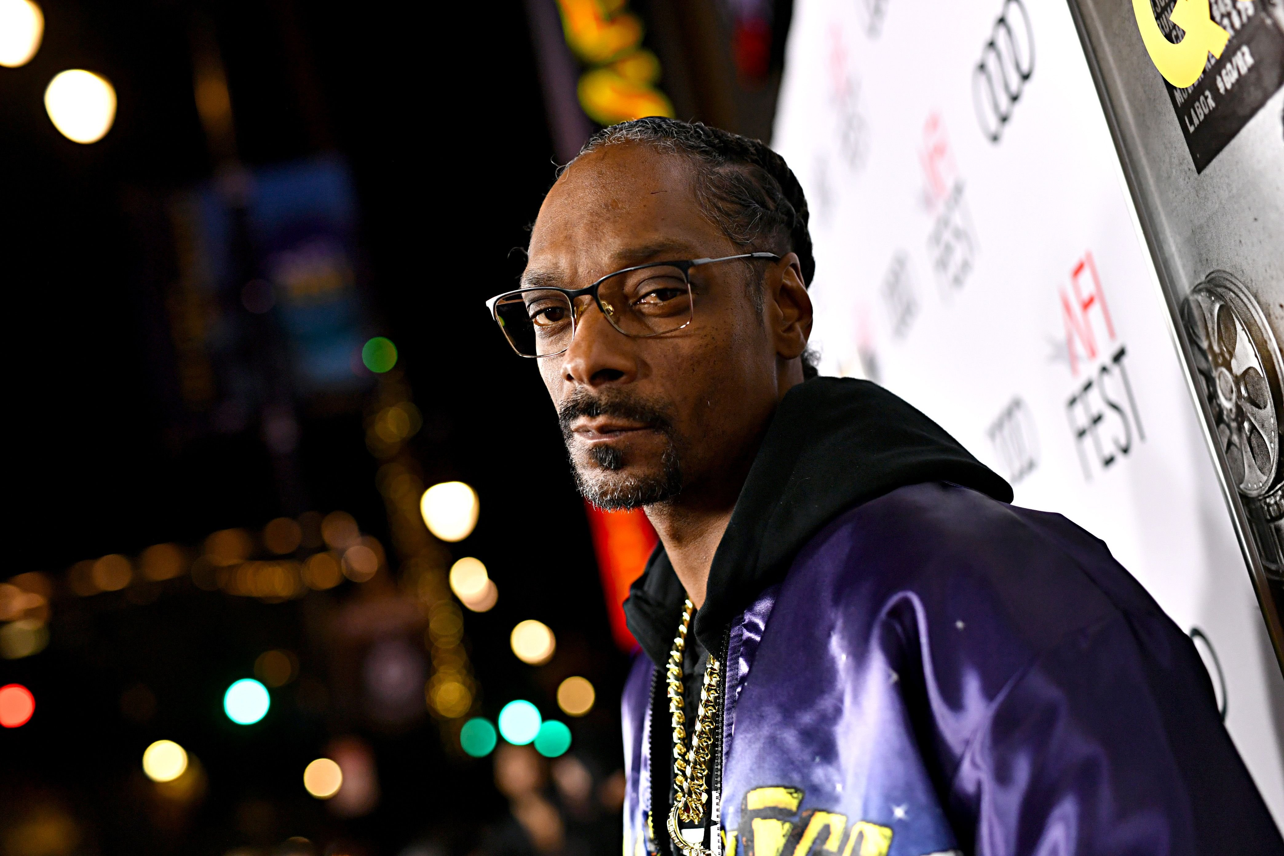 """Rapper Snoop Dogg at the """"Queen & Slim"""" premiere on November 14, 2019 in Hollywood.   Photo: Getty Images"""
