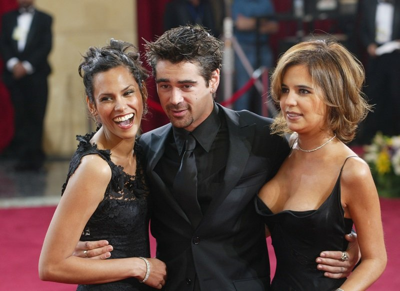 Actor Colin Farrell, sister Claudine (R) and model Kim Bordenave on March 23, 2003 in Hollywood, California | Photo: Getty Images