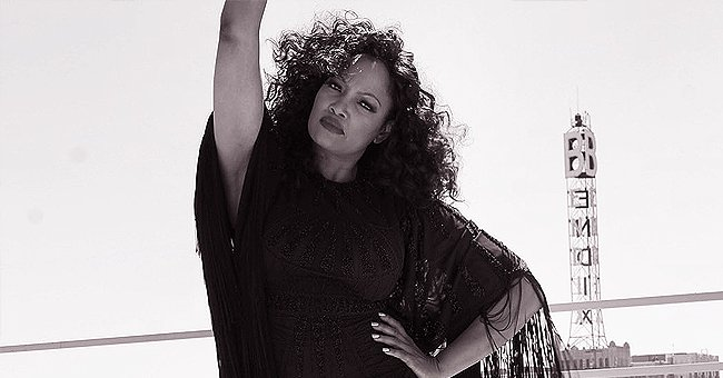 Garcelle Beauvais from RHOBH Wears Short Fringed Outfit in Black & White Photo