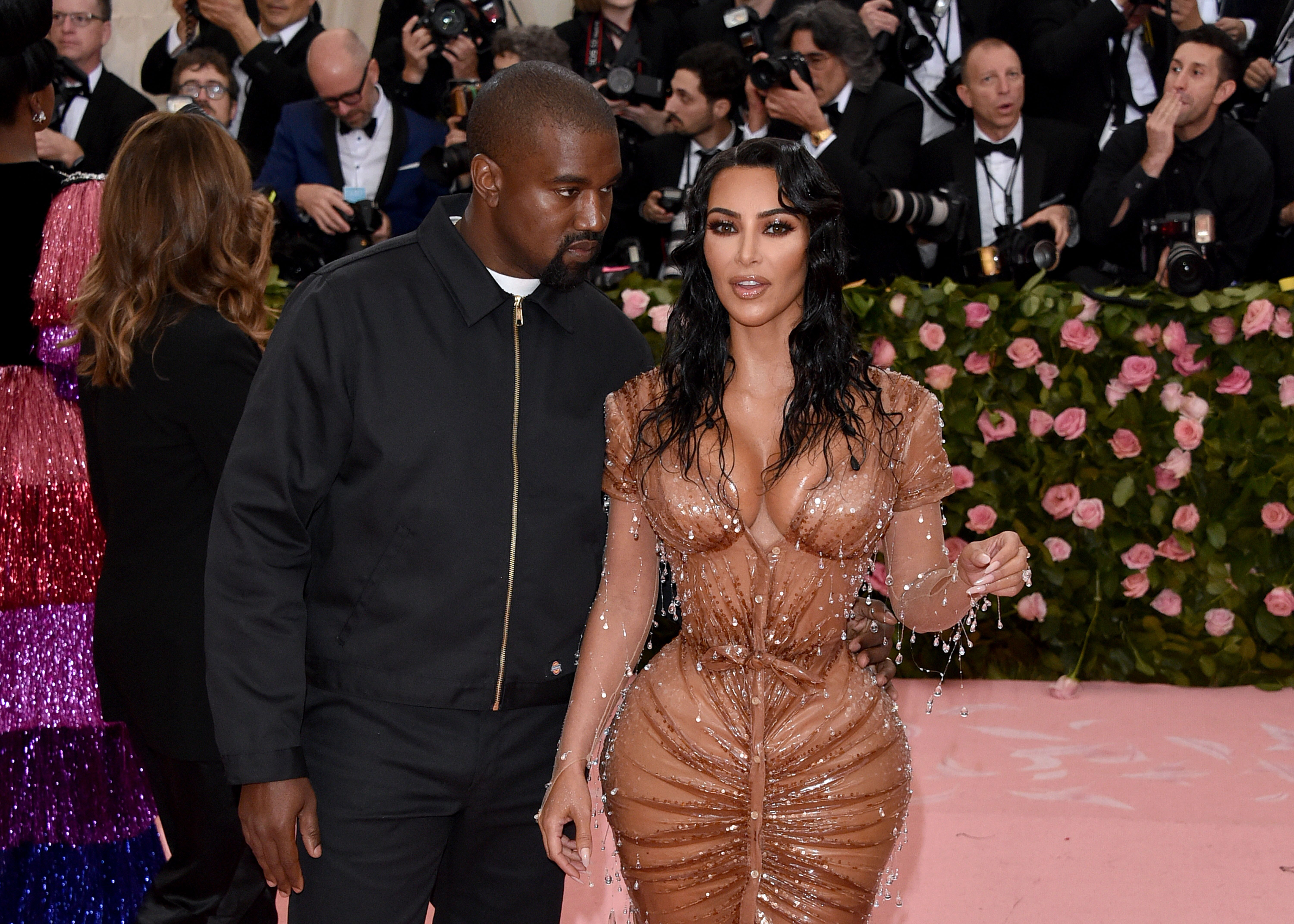 Kim Kardashian and husband Kanye West st the 2019 MET GALA/ Source: Getty Images
