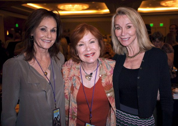 Meredith MacRae, Linda Henning, and Lori Saunders at Westin LAX Hotel on April 20, 2013 in Los Angeles, California. | Photo: Getty Images