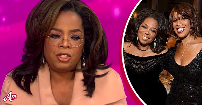 A photo of Oprah Winfrey and another with her friend Gayle King   Photo: youtube.com/Entertainment Tonight