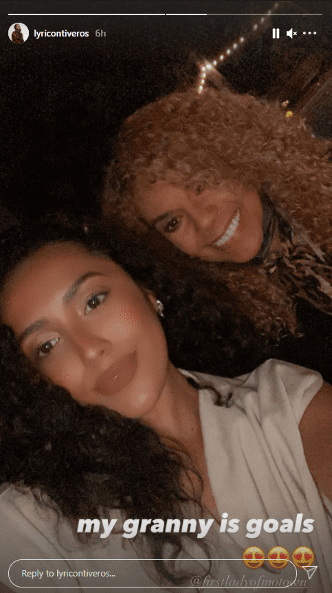 A selfie of Claudette Robinson and her granddaughter Lyric looking like twins   Photo: Instagram.com/Lyricontiveros