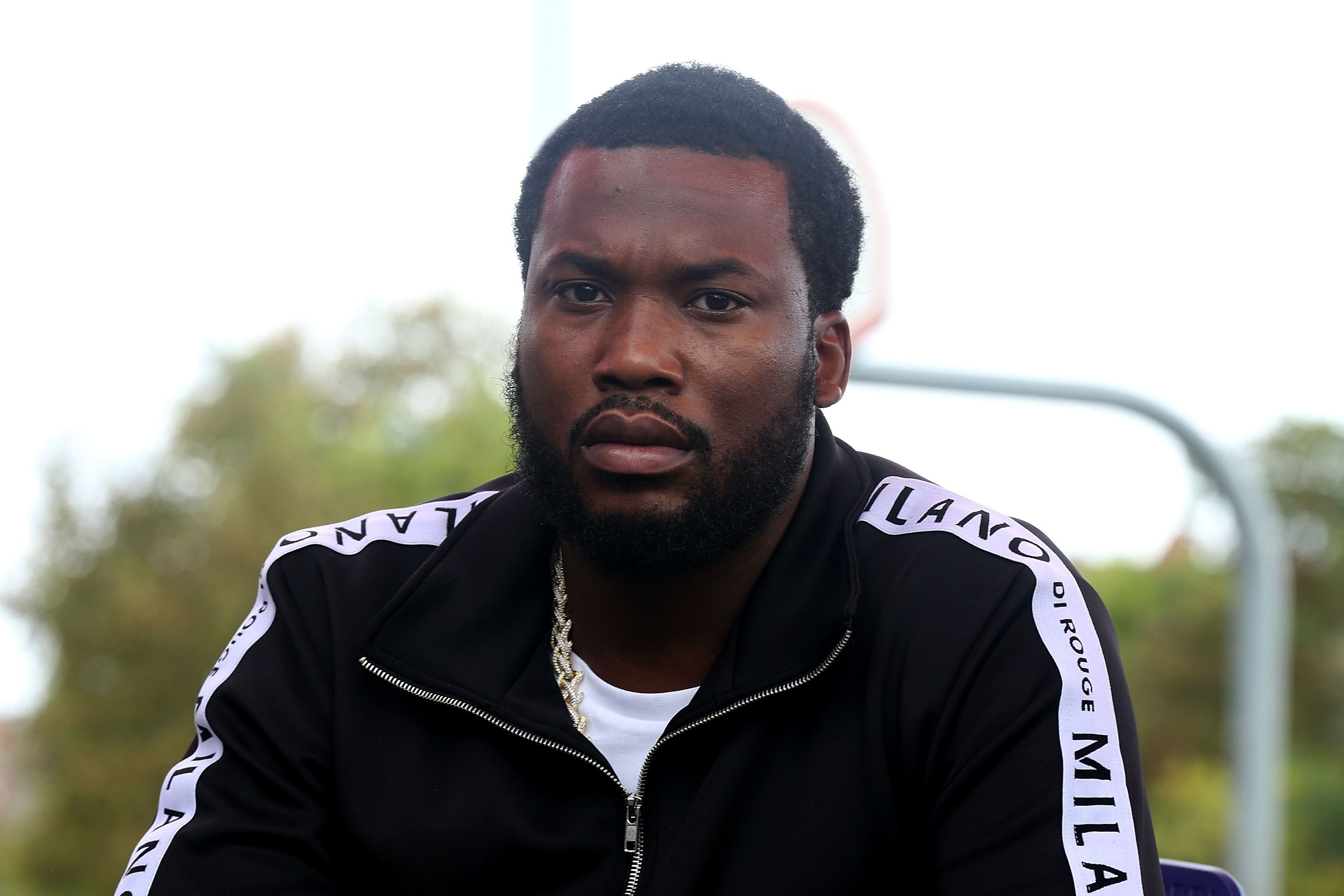 Meek Mill attends Meek x PUMA Hoops Court Refurbishment Announcement on October 11, 2018 in Philadelphia, Pennsylvania   Photo: Getty Images