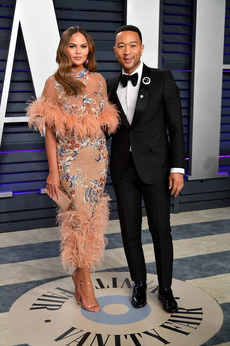 Chrissy Teigen and John Legend on February 24, 2019 in Beverly Hills, California | Photo: Getty Images