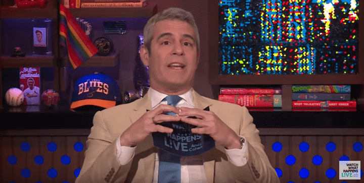 Andy Cohen interviewing Rosie O'Donnell on June 24, 2019   Photo: YouTube/Watch What Happens Live With Andy Cohen