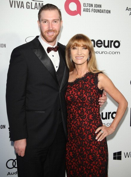 Jane Seymour and Sean Flynn at the 22nd Annual Elton John AIDS Foundation's Oscar viewing party held on March 2, 2014 in West Hollywood, California. | Photo: Getty Images