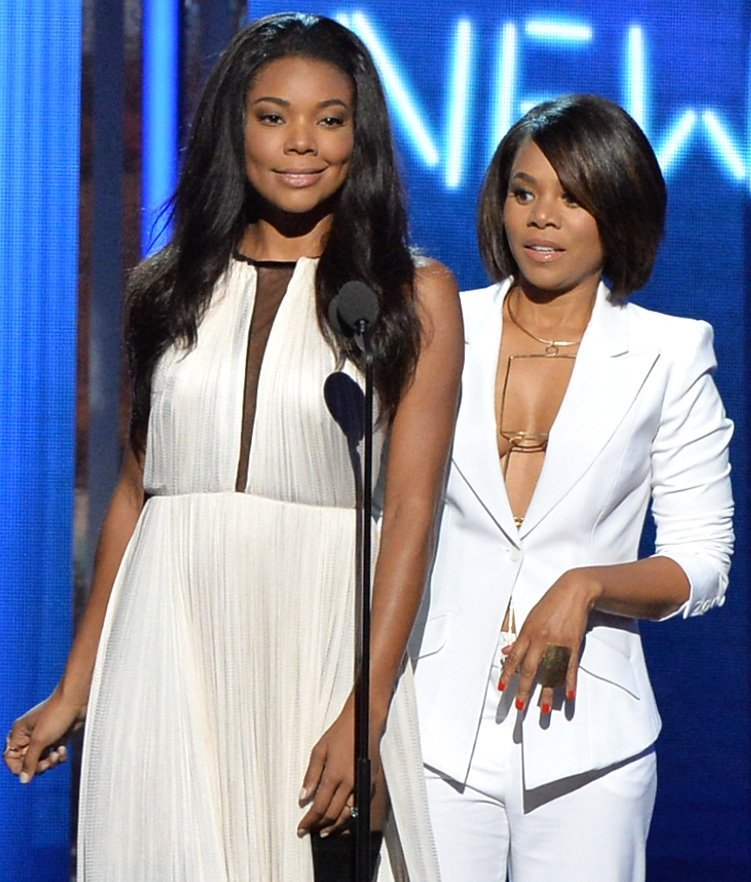 Gabrielle Union and Regina Hall speak onstage during the BET AWARDS ' on June 29, 2014. | Photo: GettyImages/Global Images of Ukraine