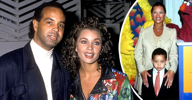 A picture of Vanessa Williams, her ex-husband, Ramon Hervey, and their beautiful son   Photo: Getty Images