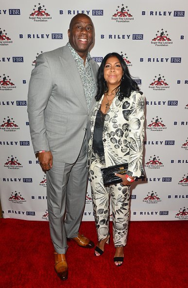 Magic Johnson and Cookie Johnson at The Beverly Hilton Hotel on May 22, 2019 | Photo: Getty Images
