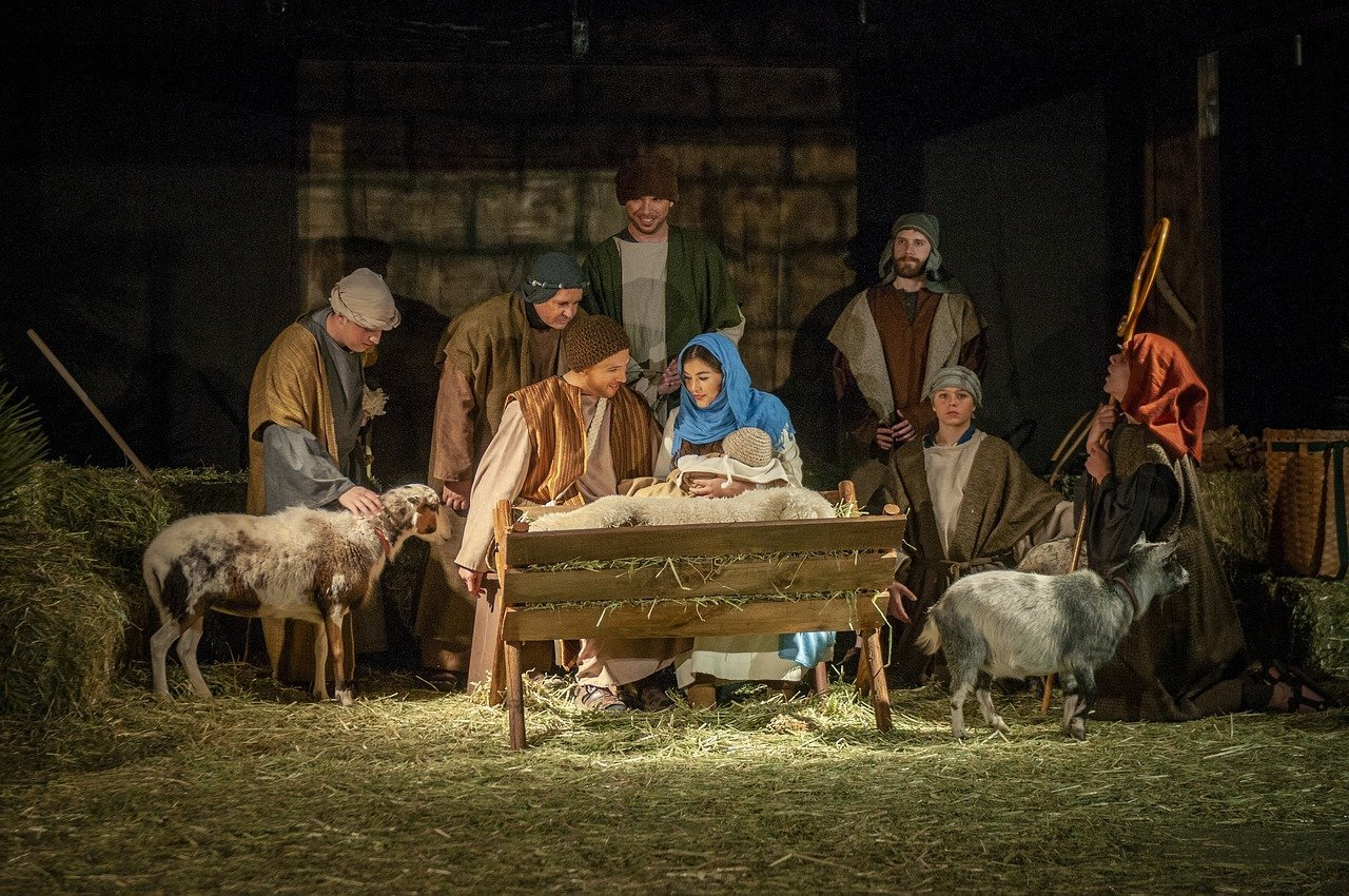 A Christmas Nativity scene. Image credit: Pixabay