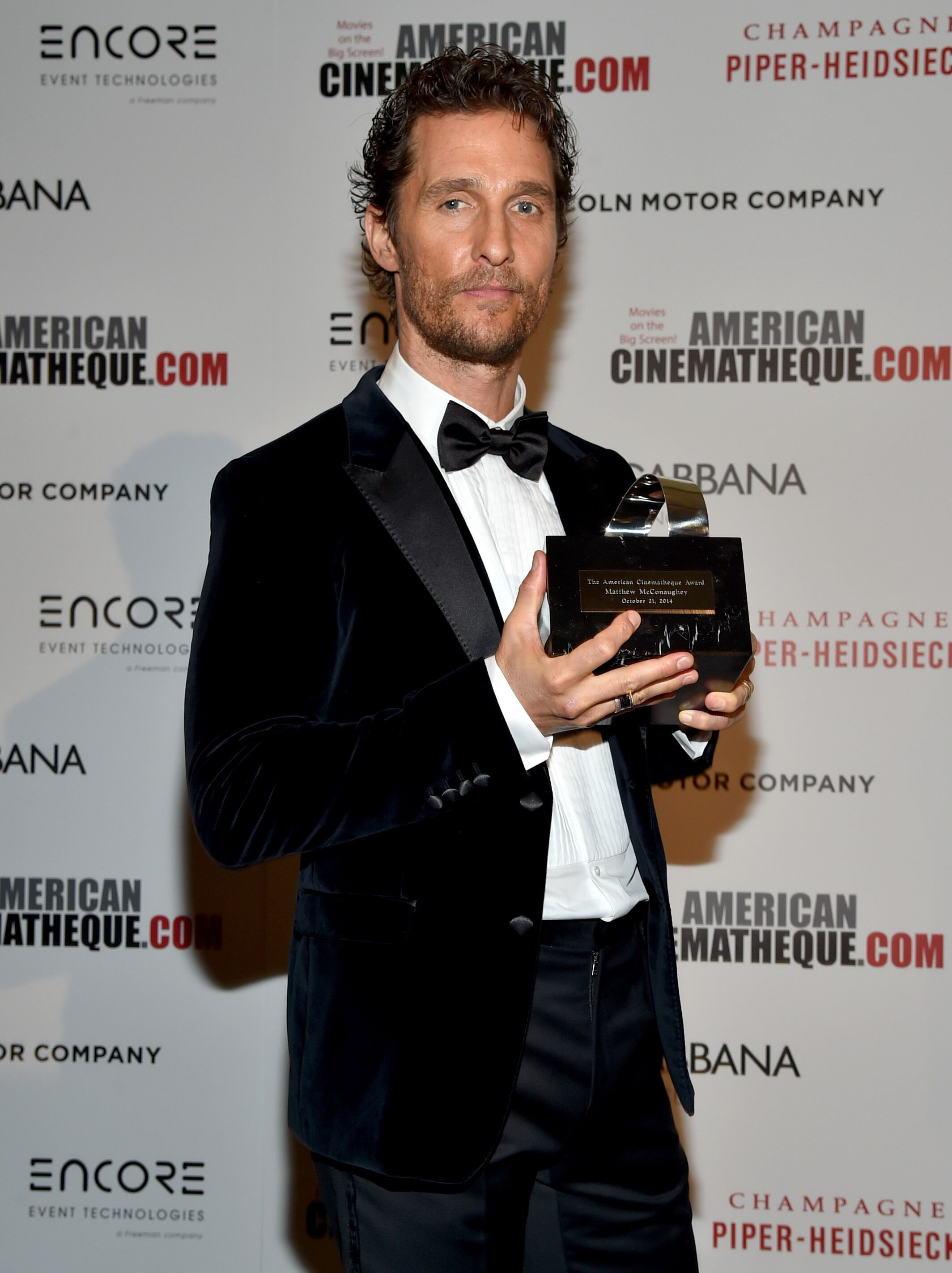 Matthew McConaughey attends the 28th American Cinematheque Award in 2014 | Source: Getty Images