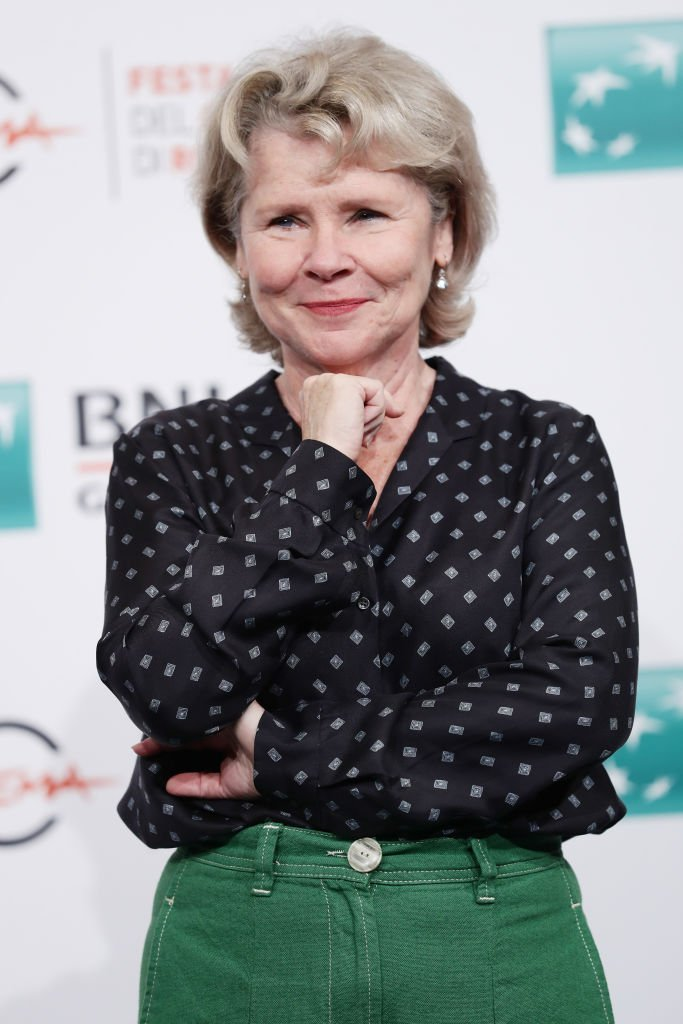 "Imelda Staunton attends the photocall of the movie ""Downton Abbey."" 