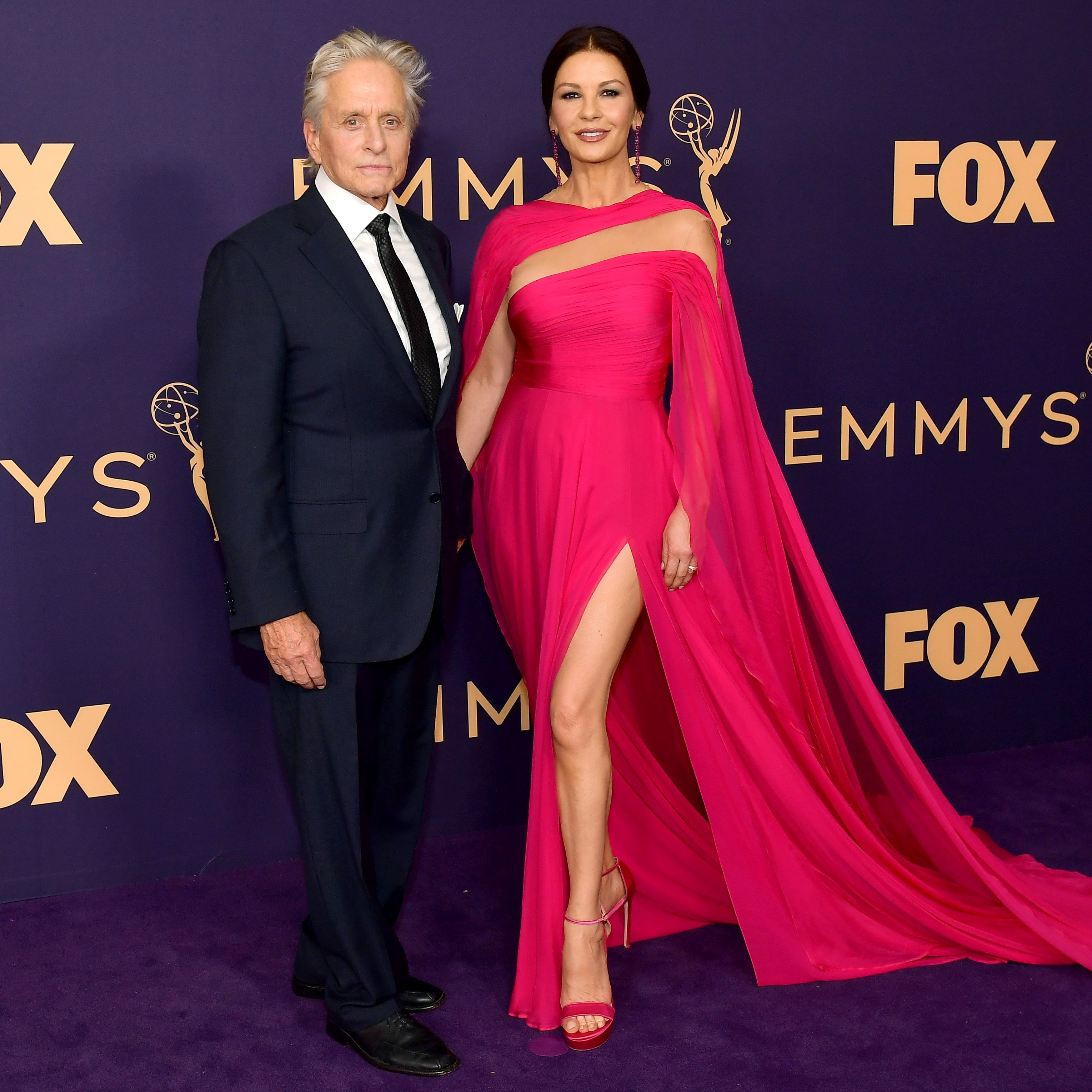 Michael Douglas and Catherine Zeta-Jones attends the 71st Emmy Awards in Los Angeles, California on September 22, 2019 | Photo: Getty Images