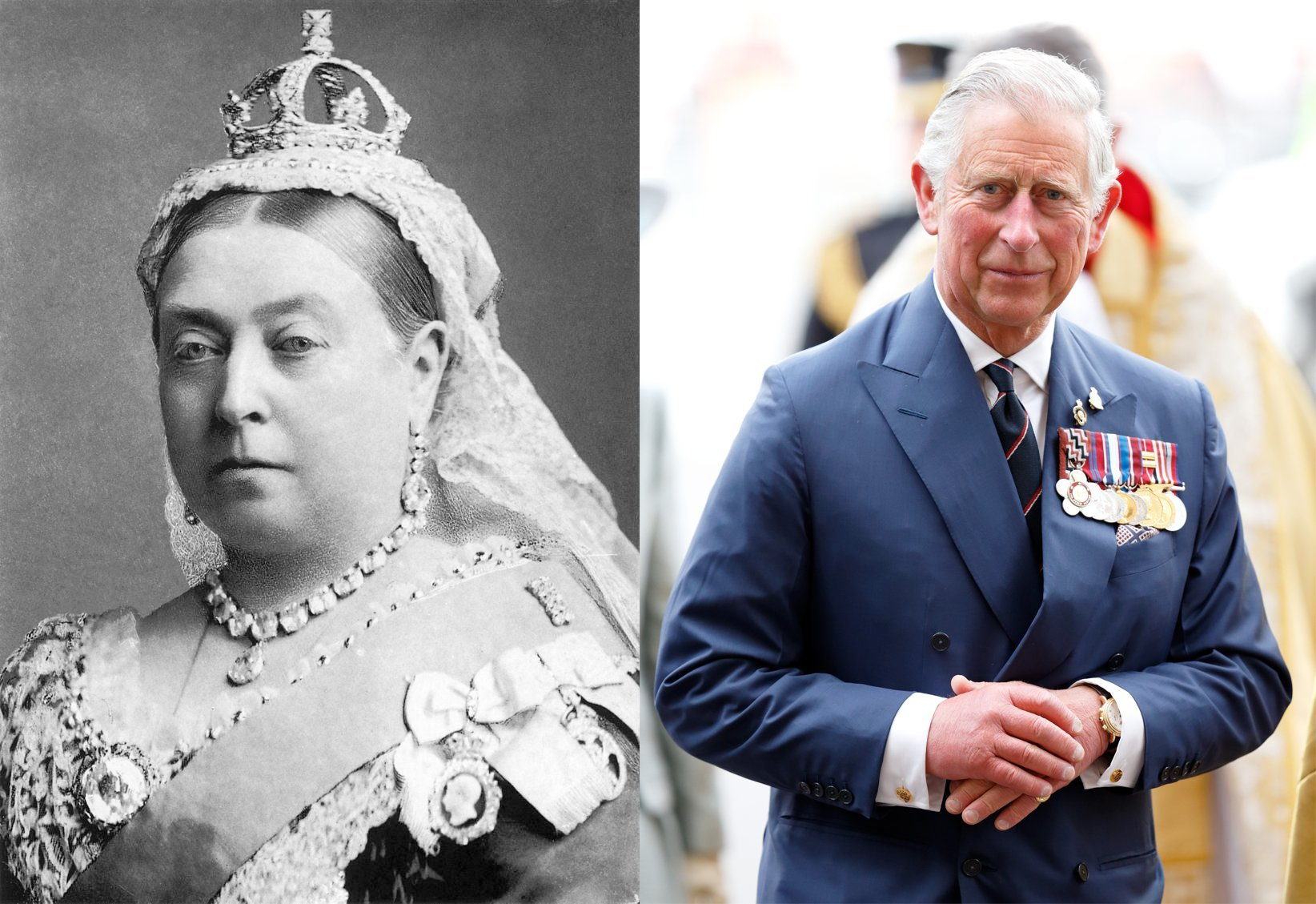 Queen Victoria and Prince Charles. I Image: Wikimedia Commons/ Getty Images.