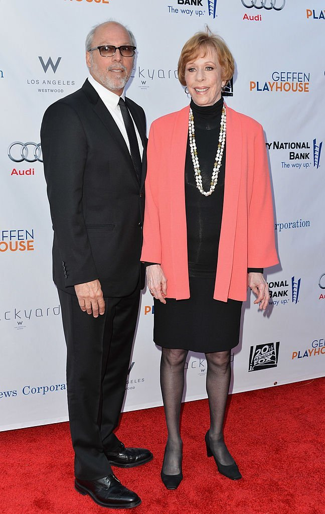 "Brian Miller and Carol Burnett at the Geffen Playhouse's Annual ""Backstage at the Geffen"" Gala at Geffen Playhouse on June 4, 2012 