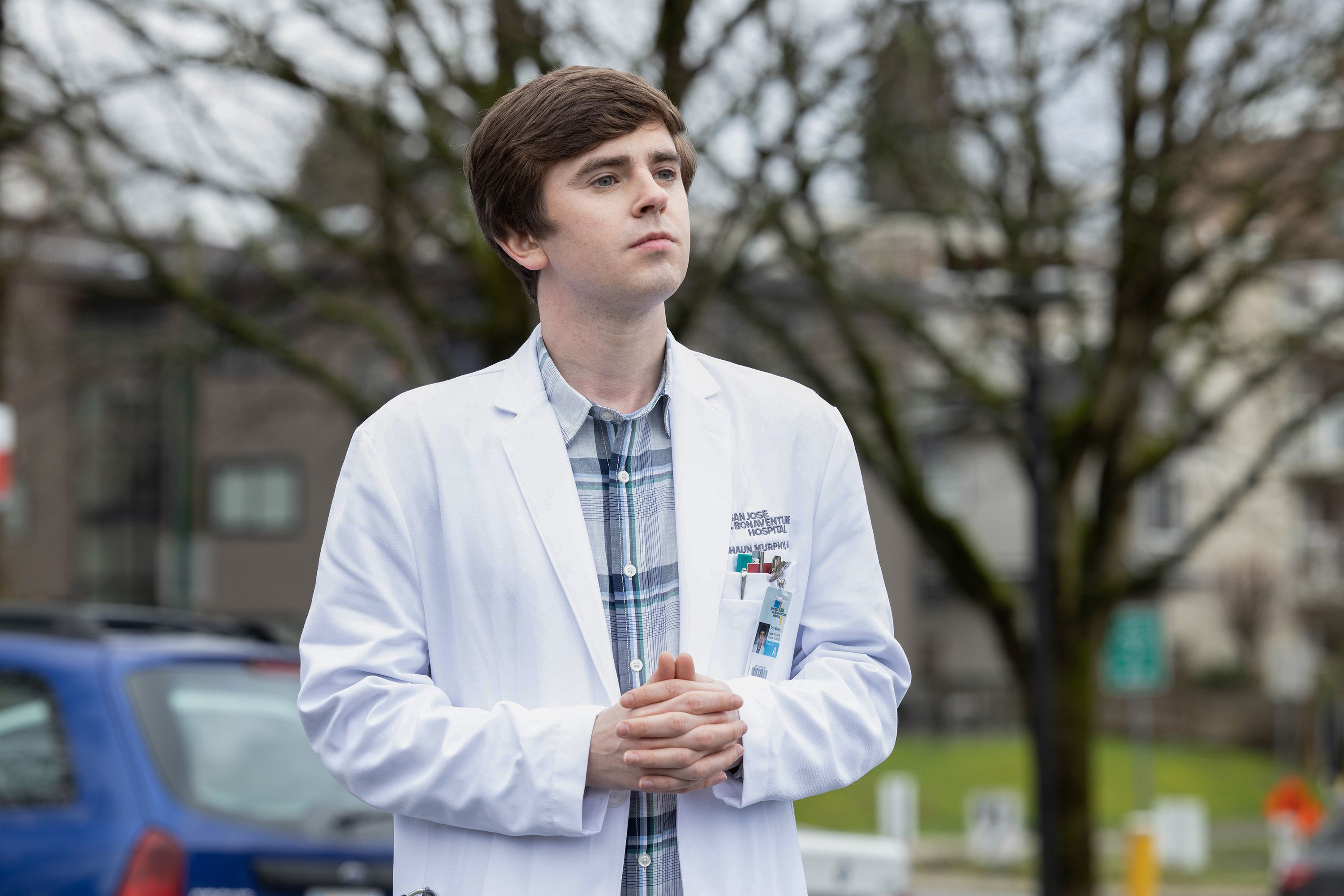 "One of the scenes of ABC's ""The Good Doctor"" showing Freddie Highmore who plays Dr. Shaun Murphy on February 03, 2020 