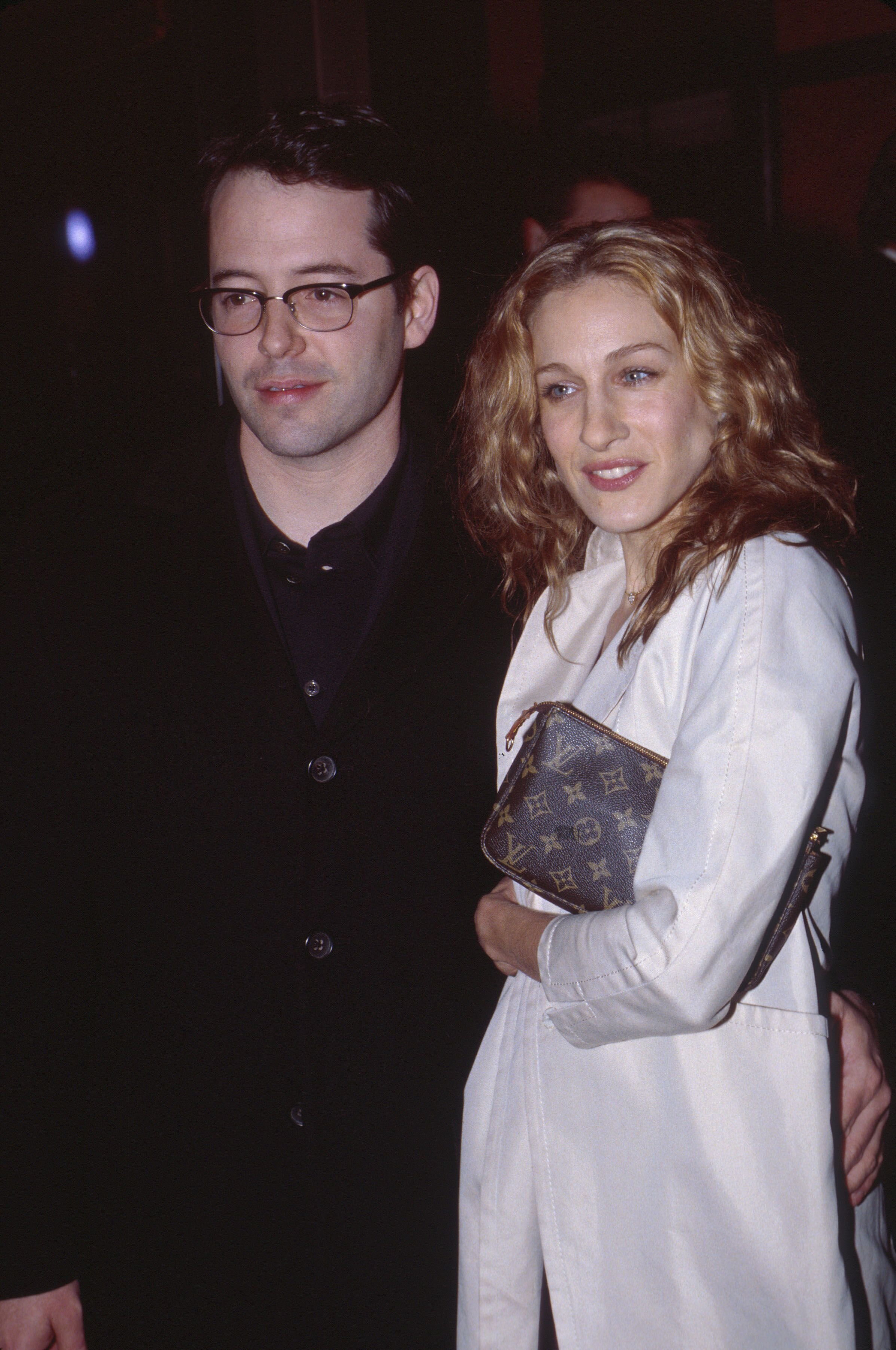 """Matthew Broderick and Sarah Jessica Parker at the premiere of """"The Sopranos."""" 