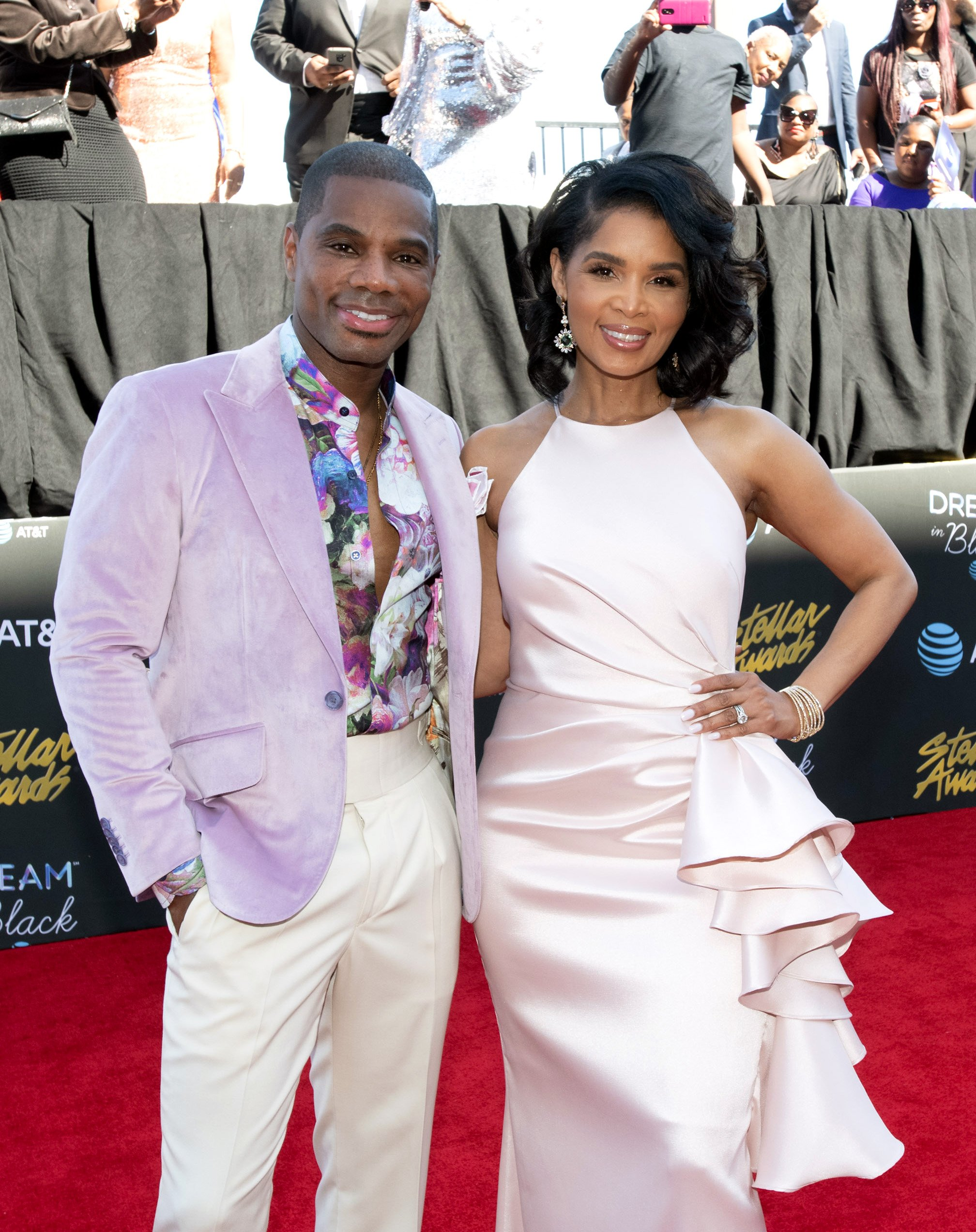 Kirk Franklin and his wife Tammy Franklin appearing at the 34th annual Stellar Gospel Music Awards on March 29, 2019.   Photo: Getty Images