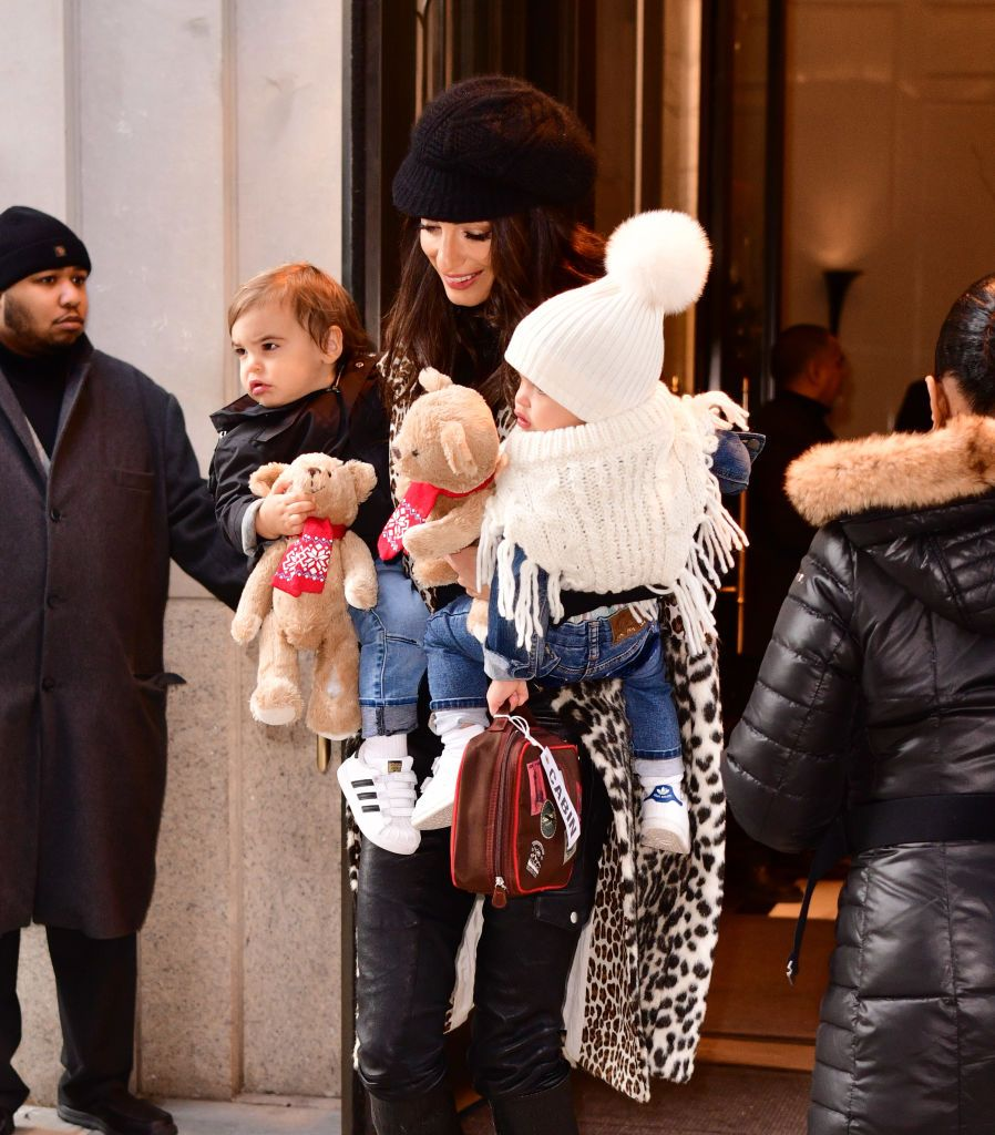 Amal  Alamuddin Clooney with twins Ella and Alexander Clooney | Source: Getty Images