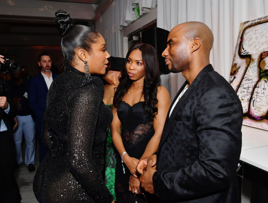 """Jessica Gadsden and Charlamagne Tha God at """"Tiffany Haddish: Black Mitzvah"""" in December 2019 in Beverly Hills   Source: Getty Images"""