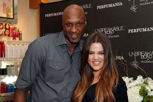 Lamar Odom and Khloe Kardashian at Perfumania on June 7, 2012 in Orange, California | Photo: Getty Images