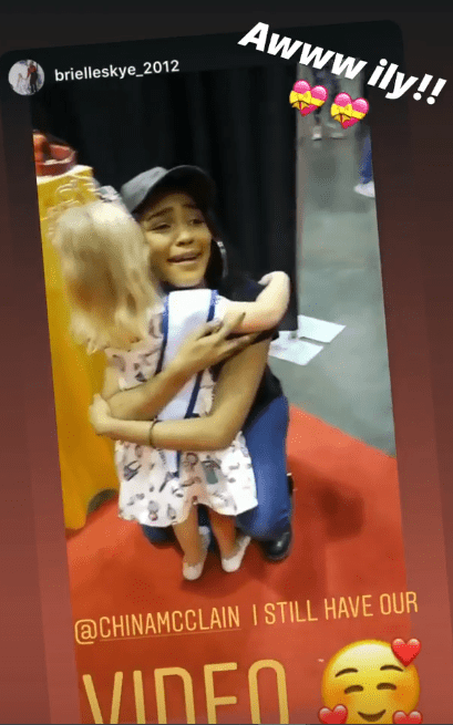 An image of China McClain and Brielle Skye having a cute moment | Photo: Instagram/ChinaMcClain