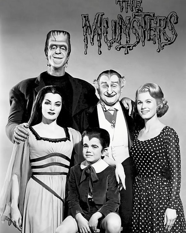 "Herman Munster and other casts of ""The Munsters"" 