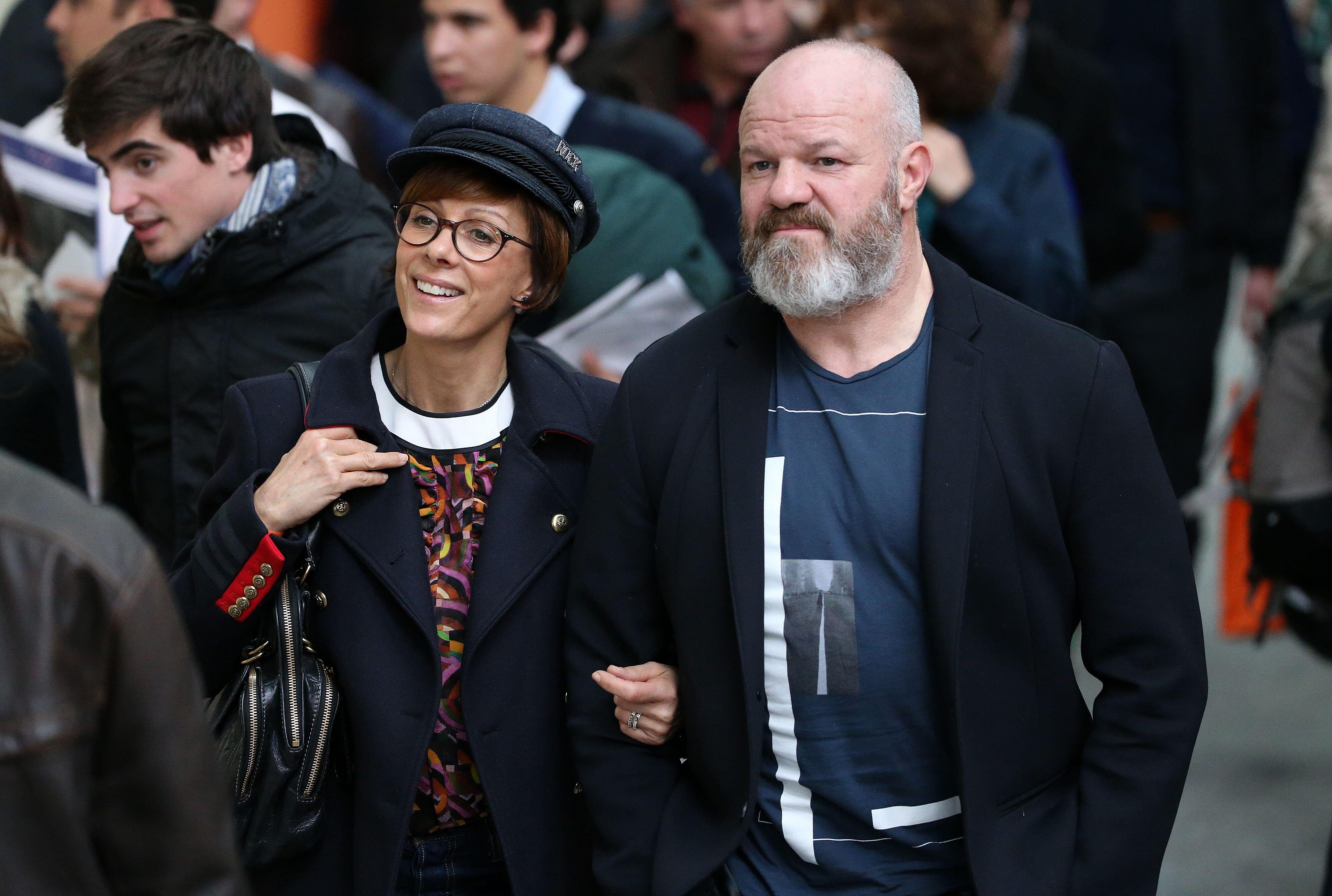 Philippe Etchebest et sa femme Dominique. l Source : Getty Images