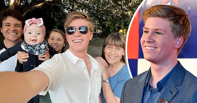 Robert Irwin and family take a selfie together   Photo: Getty Images   instagram.com/robertirwinphotography/