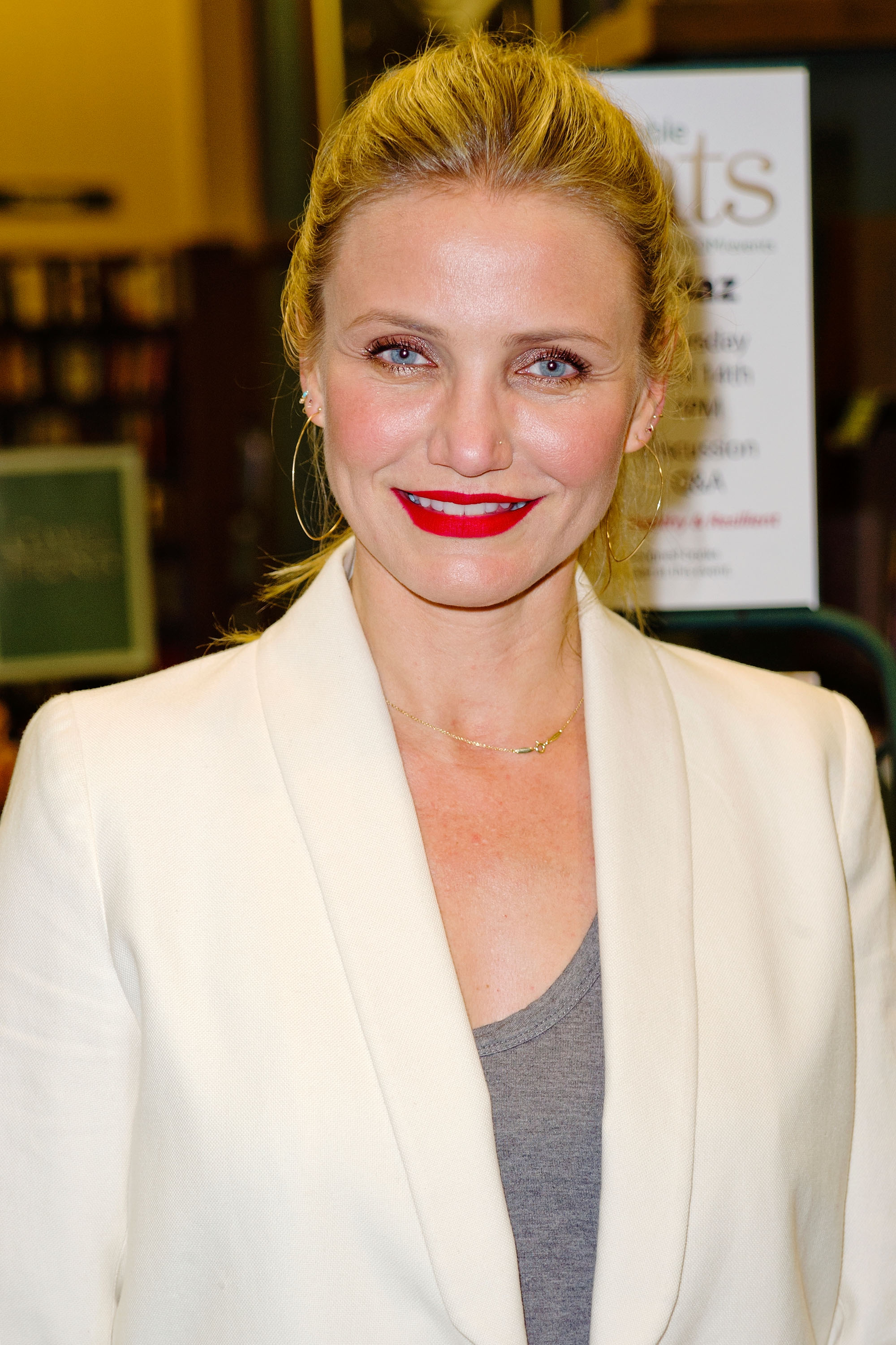 Cameron Diaz signs copies of her book 'The Longevity Book: The Science Of Aging, The Biology Of Strength, And The Privilege Of Time' at Barnes & Noble on April 14, 2016, in Huntington Beach, California. | Source: Getty Images.