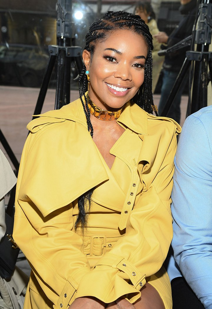 Gabrielle Union attending the Lanvin Menswear Fall/Winter 2020-2021 show as part of Paris Fashion Week in Paris, France in January 2020. I Image: Getty Images.